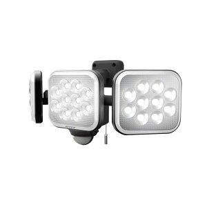 納期2週間程度 ムサシ RITEX フリーアーム式LEDセンサーライト LED-AC3036 12W×3灯 3000LM 屋内 屋外 用 コンセント式 大光量 福KH