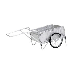 個人宅配送不可 折りたたみ式リヤカー 荷台サイズ 900 × 600 × 310mm HKW180 コンパクト 収納 運搬 台車 日本製 アルインコ アR 代引不可
