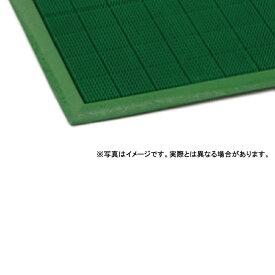 【個人宅配送不可】 からくさマット 大 60 × 85 (cm) 色:緑 一体成型 低価格 カーペット 大一産業 共B 【送料無料】 【代引不可】