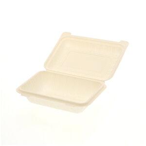 50枚 食品容器 コーンスターチパック IDFP-50 196 × 140 × 高58mm テイクアウト ケータリング イベント アウトドア Sモ 個人宅配送不可 代引不可