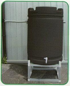 個人宅配送不可 雨水タンク +アルミ台セット 185L 茶 安全興業 代引不可
