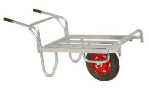 離島配送不可 ハラックス コン助 アルミ製 平形一輪車 CNB-45D ストッパー伸縮タイプ ブレーキ付 防J 代引不可