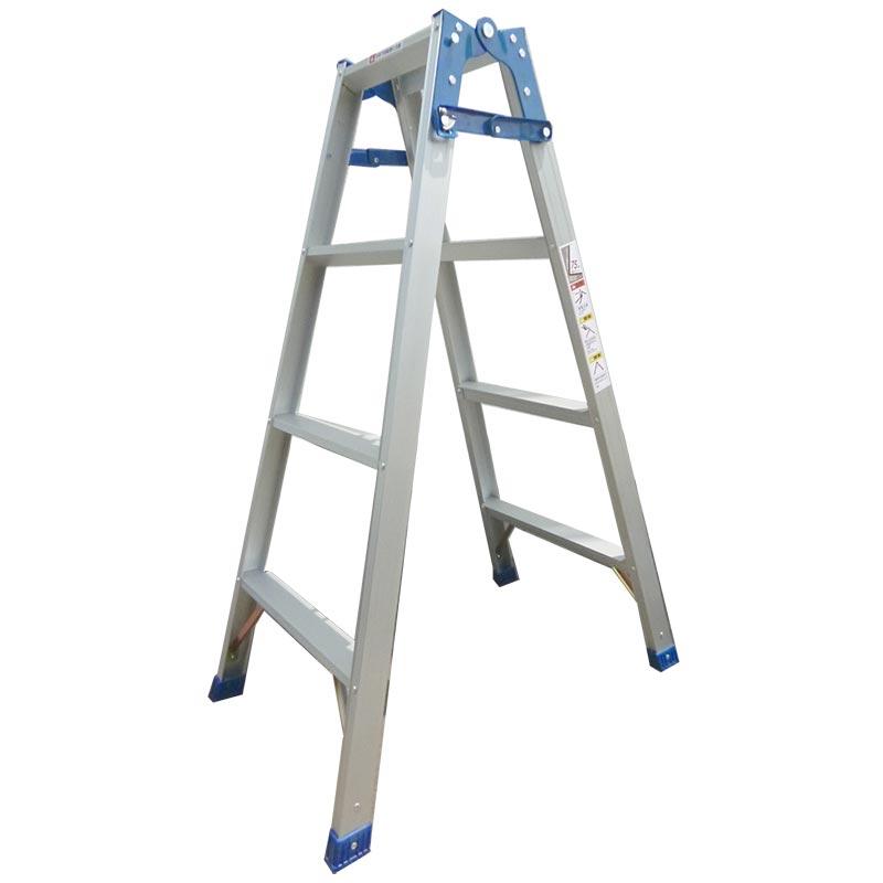 【個人宅配送不可】はしご兼用脚立5段 脚立使用:141cm はしご使用:296cm 幅広ステップ54mm 耐荷重100kg シN直送【送料無料】