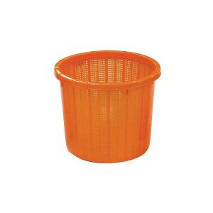 個人宅配送不可 16個丸型 収穫かご オレンジ ベルト付 中 容量約 16L 安全興業 代引不可