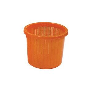 個人宅配送不可 20個 丸型 収穫かご オレンジ ベルト付 小 容量約 8L 安全興業 代引不可