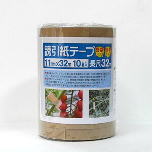 1ケース 240巻 誘引紙テープ 幅11mm×長さ32m 生分解性クラフト紙 一色本店 一S 代引不可