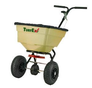 [個人宅配送不可] 肥料散布機 手押し プッシュスプレッダー TURF-EX45 小型 耐久性 正確 コンパクト 保管容易 軽量 豊K 送料無料 代引不可