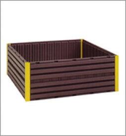 【個人宅配送不可】 堆肥枠 セット AC-1200 黒 120cm×120cm コダマ樹脂 【代引不可】