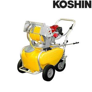 エンジン式小型動噴 MS-ERH50T ホース6mm径 50m 50Lタンクキャリー付 4サイクルエンジン 重量35kg 工進 KOSHIN 除草 散布 シB 代引不可