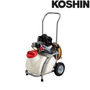 エンジン動噴 ES-25T ホース6mm径 20m 25Lタンクキャリー付 2サイクルエンジン 重量20.5kg ガーデンスプレーヤー 工進 KOSHIN 除草 散布 シB 代引不可