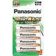 【送料無料】PanasonicBK-3LLB/4B充電式エボルタ単3形4本パック(お手軽モデル)【在庫目安:予約受付中】