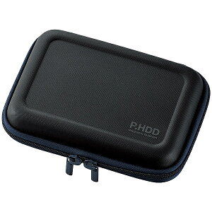 ELECOM HDC-SH002BK ポータブルHDDケース/ セミハード/ Lサイズ/ ブラック【在庫目安:お取り寄せ】