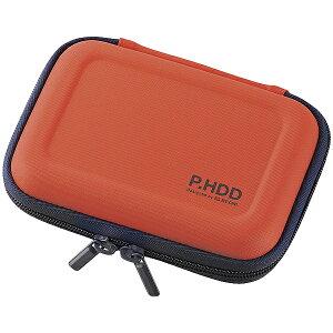 ELECOM HDC-SH001DR ポータブルHDDケース/ セミハード/ Sサイズ/ オレンジ【在庫目安:お取り寄せ】