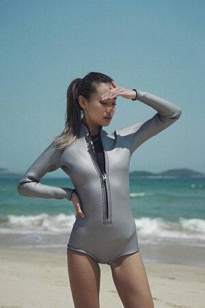 日本製swipewetsuitsサーファー女子のためのブランドレディースジャージロングスプリング2mmsuoヨガサーフィンフロントファスナー