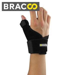 Bracoo 親指サポーター バネ指 突き指 サポーター 腱鞘炎 関節症 捻挫 手首 固定 サポーター ブラック 左右兼用