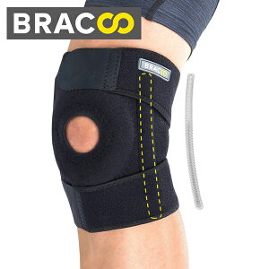 Bracoo 膝サポーター 膝固定 保護 膝痛 サポートバネ付き けが予防 膝用 運動用 ひざ サポーター 左右兼用 登山 ランニング バスケ アウトドア スポーツ