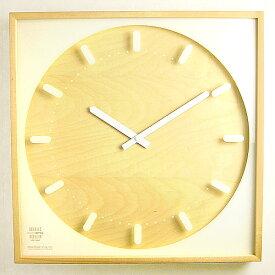 \MAX46倍★お買い物マラソン期間中/送料無料 【あす楽14時まで】 SNOW-SQUARE クロック [L] 《Da-01/L》 時計 【smtb-F】 時計 壁掛け おしゃれ 壁掛け時計 ウッド ウッド ウォッチ デザイン
