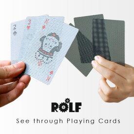 \MAX47倍/トランプ Playing Cards【あす楽14時まで】 Micro Dots Transparent Card マイクロ ドッツ トランスパレント カードプレイングカード シースルー ババ抜き パーティ おもしろ雑貨