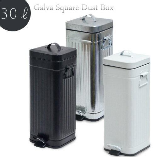 送料無料!【あす楽14時】 Galva Square Dust Box 30L ガルバ スクエア ダスト ボックス 30リットルごみ箱 ゴミ箱 ふた付き スリム ペダル キッチン リビング 大容量 ダストボックス 30リットル◇オシャレ雑貨 かわいい 可愛い おしゃれ 新生活 plywood デザイン