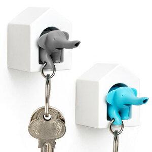 キーリング 笛 【あす楽14時まで】 Qualy Elephant Key Ring クオリー エレファントキーリング◇デザイン plywood オシャレ雑貨