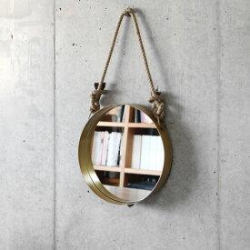 \MAX37倍/送料無料 鏡 ミラー 【あす楽14時まで】 ウォールロープミラー [ラウンド]Wall Rope Mirror Round【 鏡 壁掛け アンティーク 丸 玄関 インテリア 】【smtb-F】 F