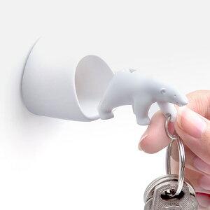 【あす楽14時まで】 Qualy Polar Bear Key Ring クオリー ポーラーベアー キーリング ペアセット[ キーリング 笛 ] (-) F