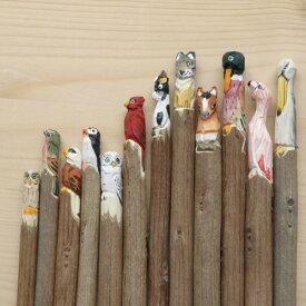 【メール便OK】【あす楽14時まで】 Amy by amabro アマブロ ANIMAL PEN アニマル ペン [ ボールペン ] 【 ボールペン キャラクター 木彫り ハンドメイド 】 F