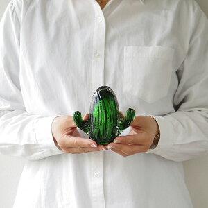 サボテン オブジェ 置物 ガラス アマブロ【あす楽14時まで】amabro Cactus Glass Ornamentカクタス グラス オーナメント《Sサイズ》Round Fan Pillar 柱サボテン ウチワサボテン メキシコ グリーン◇観葉植物 かわいい plywood プレゼント 新築祝い F