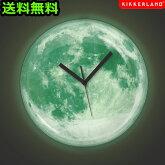 送料無料ムーンライト掛け時計おしゃれ北欧ムーンライトクロック満月月お月様アンティークかわいい光る時計ウォールクロック壁掛け時計プレゼント一人暮らしギフト