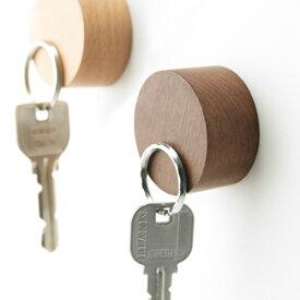 \MAX37倍/【メール便OK】【あす楽14時まで】 【h concept】 tidy Magnet Keyper テディ マグネットキーパー マグネット 鍵置場 キーホルダー ナチュラル 木製品