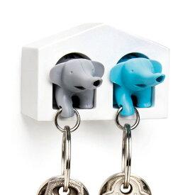 【あす楽14時まで】 Qualy DUO Elephant Key Ring クオリー デュオ エレファントキーリング ペアセット[ キーリング 笛 ] (-)