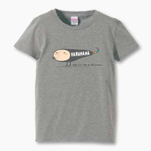 親子ペア 名入れ ママ Tシャツ(ヘンな生きもの)プリント 親子お揃い ガールズサイズ 親子ペアTシャツ ♪ 名前入り 親子 ペアルック 【S,M,L】
