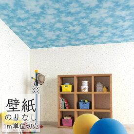 壁紙 のりなし ビニールクロス 青空 雲 東リ Pattern ナチュラル&カジュアル WVP2123
