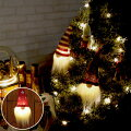 クリスマス飾りオーナメントLEDノースクリスマスノルディックサンタ/スノーサンタ/チェックサンタ/ボーダーサンタ/スターサンタ