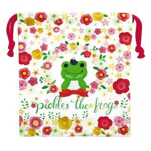 かえるのピクルス 巾着(フラワー)PC-KI001 Pickles the Frog