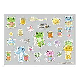 かえるのピクルス ノンアイロンステッカーirodo(ソーイング)PC-IR001 Pickles the Frog