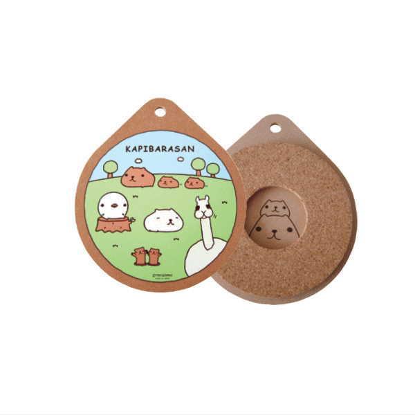 カピバラさん 鍋しき(草原) KB1205 kapibarasan