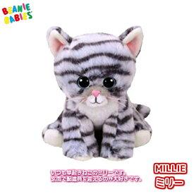 【TY】 ぬいぐるみ 【BEANIE BABIES】 MILLIE ミリー ビーニーベイビーズ 猫 ねこ ネコ Sサイズ 15cm