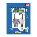 ブルーノ 6.5L 1ケース(6袋)猫砂 トイレ 紙砂 消臭 再生紙 燃えるゴミ 軽量 清潔 脱臭 無臭 ネコ 取り捨て簡単