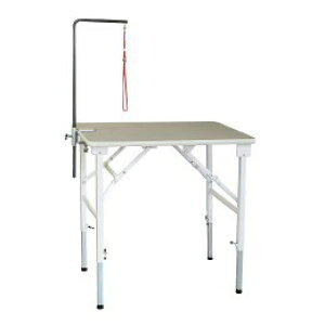 折りたたみトリミングテーブル アジャスト Lサイズ(幅90×奥行60×高さ59〜91cm)アーム棒なし TOMTOM トリマー グルーミング 犬 手入れ