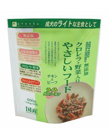 クロレラ・野菜入り やさしいフード ライト(600g) チキン&ビーフ ペット ペット用品 無添加 ドッグフード