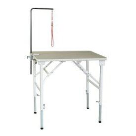 送料無料 折りたたみトリミングテーブル アジャスト Lサイズ(幅90×奥行60×高さ59〜91cm)アーム棒なし TOMTOM トリマー グルーミング 犬 手入れ