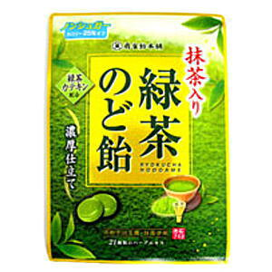 扇雀飴本舗100g緑茶のど飴(抹茶入り)6袋
