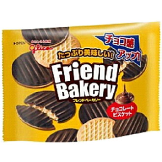 Glico friend bakery chocolate biscuits 68 g 10 bag