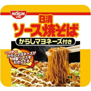 日清ソース焼そば カップからしマヨネーズ108g×12食入