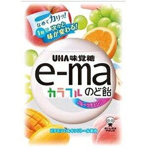 クーポン配布中★味覚糖e-maのど飴袋 カラフルフルーツチェンジ50g×6袋入 【イーマ】