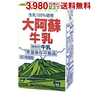 らくのうマザーズ大阿蘇牛乳250ml紙パック 24本入(常温保存可能)