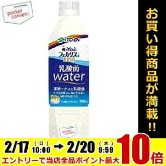 Ito itoen 早上柳 (偏航) 糞腸球菌細菌 1000年乳酸 500 毫升礦泉水瓶 24 件 [城市乳酸水]