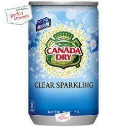 コカ・コーラカナダドライ クリアスパークリング160ml缶(ミニ缶) 30本入 〔コカコーラ 炭酸水〕