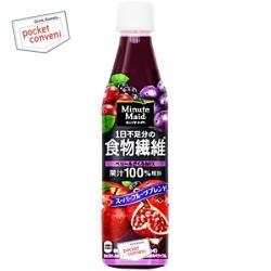 コカ・コーラ ミニッツメイド1日不足分の食物繊維350mlペットボトル 24本入 (コカコーラ 果汁100%)